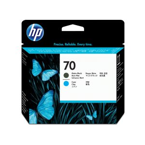 HP 70 Printhead Matte Black & Cyan C9404A