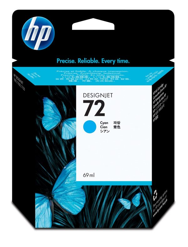 HP 72 Ink Cartridge Cyan 69ml C9398A