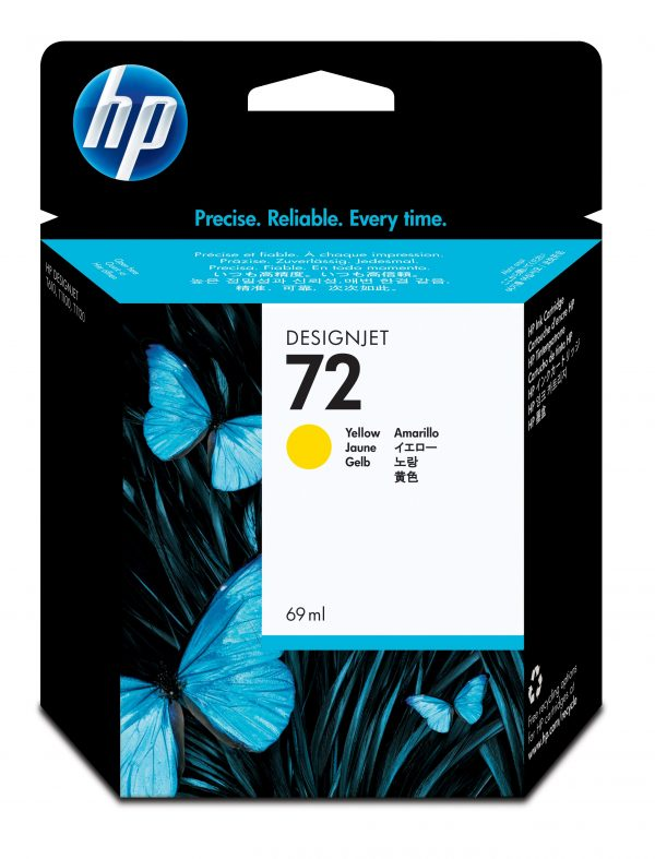 HP 72 Ink Cartridge Yellow 69ml C9499A