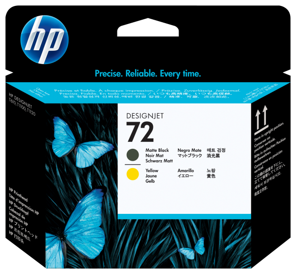 HP72 Printhead Matte Black & Yellow C9384A