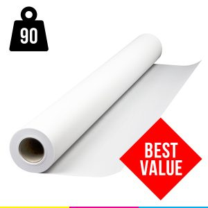 Plotter Paper Rolls 90gsm Uncoated 610mm x 50m box of 4 rolls
