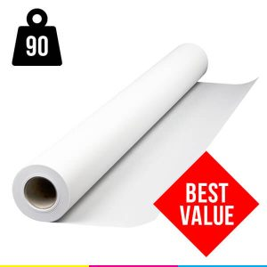 Plotter paper rolls 90gsm uncoated 841mm x 50m box of 4 rolls